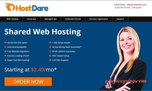 hostdare-1.5美元/quadranet/洛杉矶/512M内存/10gSSD/600g流量