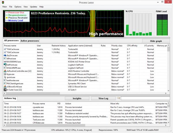 Process Lasso Pro – 系统进程优化[Windows][→0]