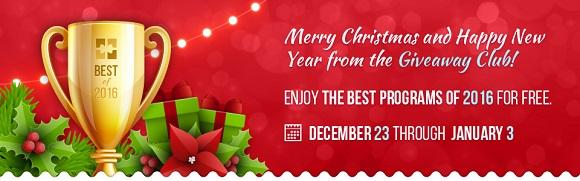 Giveaway Club 圣诞赠送 10 款软件[Windows]