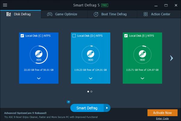 Smart Defrag Pro 5 – 磁盘碎片整理工具[Windows][.99→0]