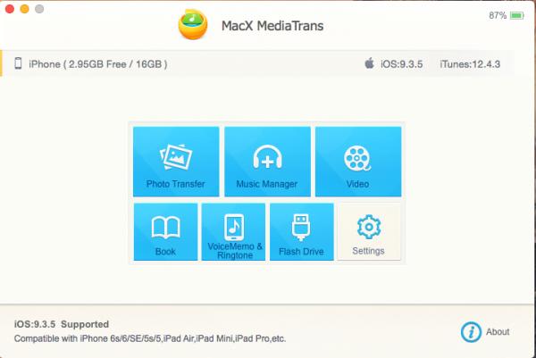 MacX MediaTrans – iOS 设备文件管理工具[macOS][.95→0]