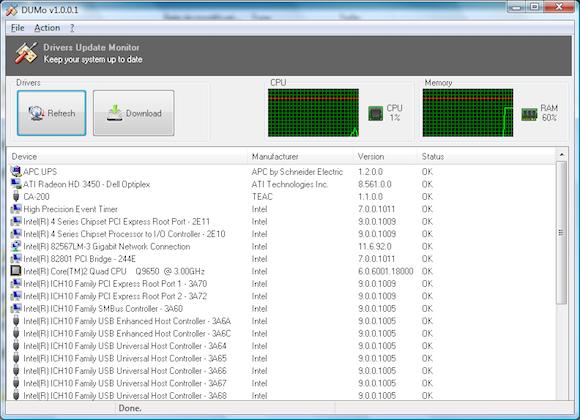 DUMo – 驱动监测更新工具[Windows][.99→0]