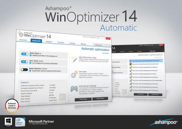 Ashampoo WinOptimizer 14 – 电脑系统优化软件[Windows][.99→0]
