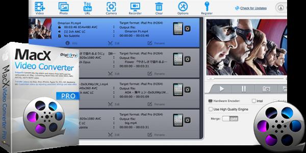 MacX Video Converter Pro — 全平台视频转换工具[PC&Mac][.95→0]