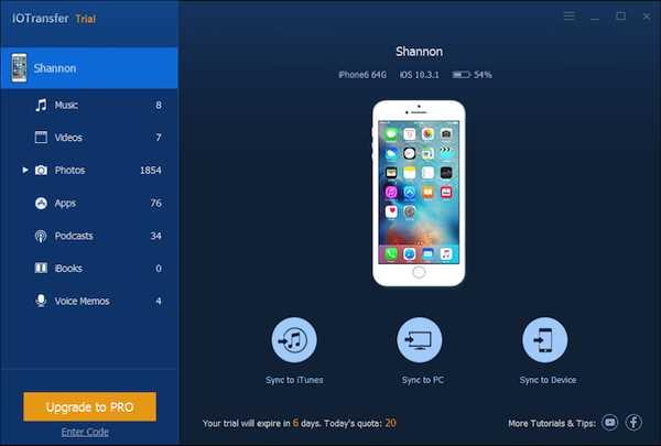 IOTransfer — iOS 设备数据管理[PC][.99→0]