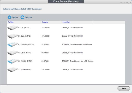 iCare Format Recovery — 格式化数据恢复工具[PC][.99→0]