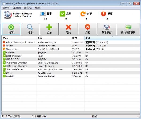 SUMo PRO – 软件更新检测工具[PC][→0]