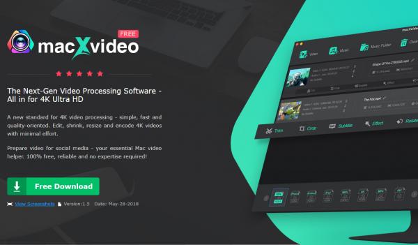 MacXDVD 旗下免费 4k 视频处理软件 — macXvideo[Mac]