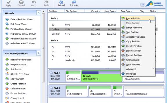 AOMEI Partition Assistant Pro – 磁盘分区整理软件[Windows][$39→0]