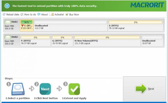 Macrorit Partition Extender Pro – 磁盘分区扩展工具[Windows][$29.9→0]