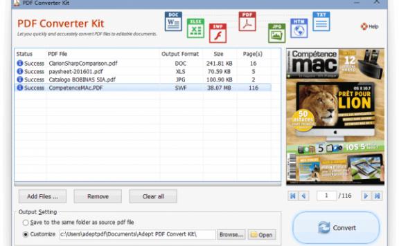 Adept PDF Converter Kit – PDF 文档转换工具[Windows][$49.95→0]
