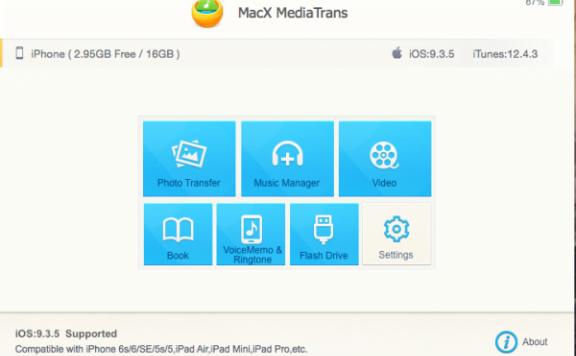 MacX MediaTrans – iOS 设备文件管理工具[Mac&PC][$59.95→0]