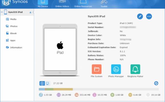 Syncios Pro — iOS 设备管理器[PC][$39.95→0]