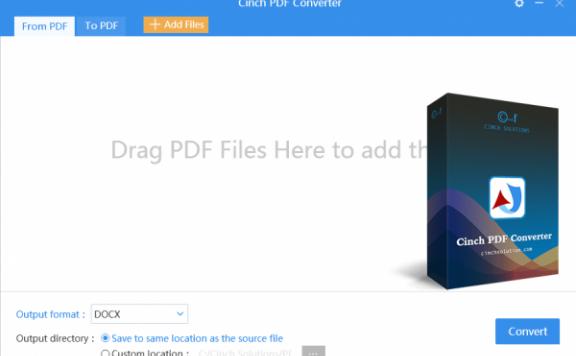 Cinch PDF Converter – PDF 文档转换工具[PC][$29→0]