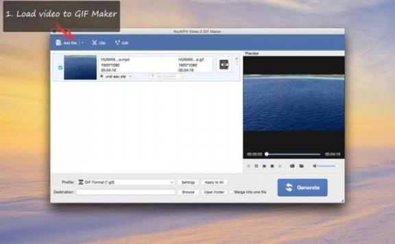 AnyMP4 Video 2 GIF Maker – 将视频转换为 GIF 动画[Mac][¥30→0]