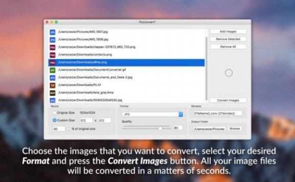 PicConvert – 图片格式转换工具[Mac][¥18→0]